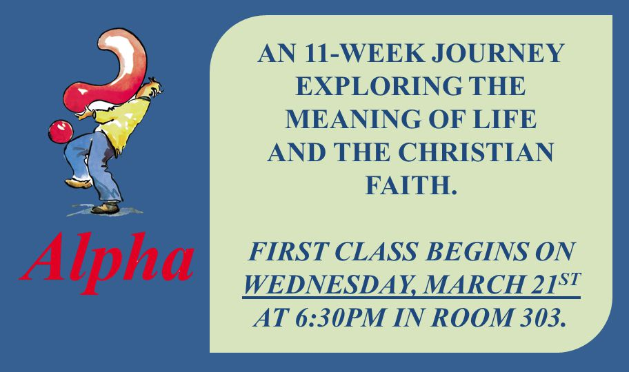 First class begins on Wednesday, March 21st at 6:30pm in room 303.