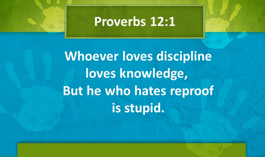 Proverbs 12:1 Whoever loves discipline loves knowledge, But he who hates reproof is stupid.