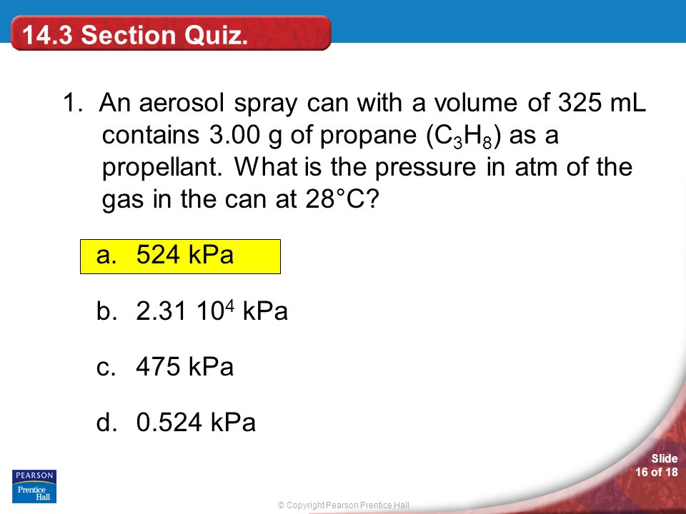 14.3 Section Quiz.