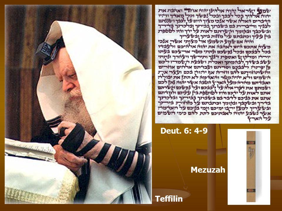 Deut. 6: 4-9 Mezuzah Teffilin