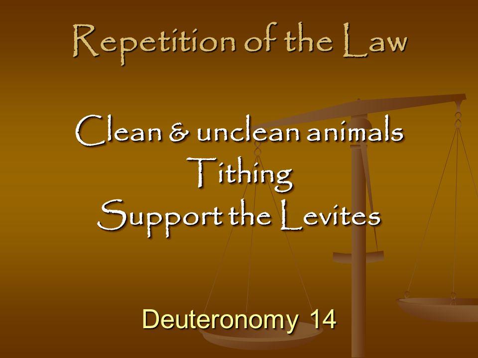 Clean & unclean animals