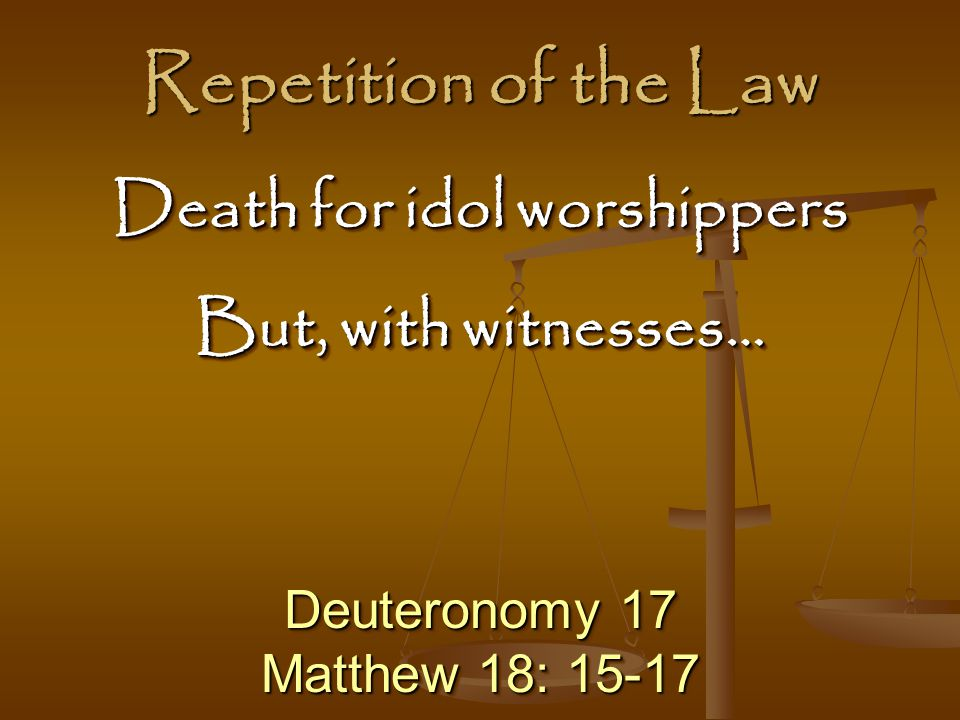 Death for idol worshippers