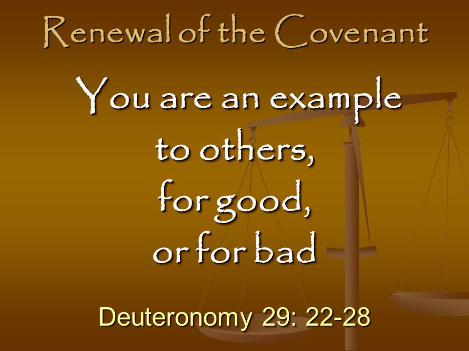 Renewal of the Covenant