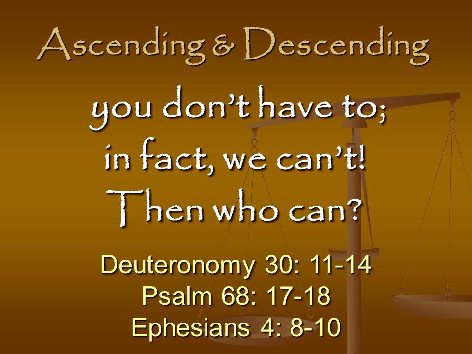 Ascending & Descending