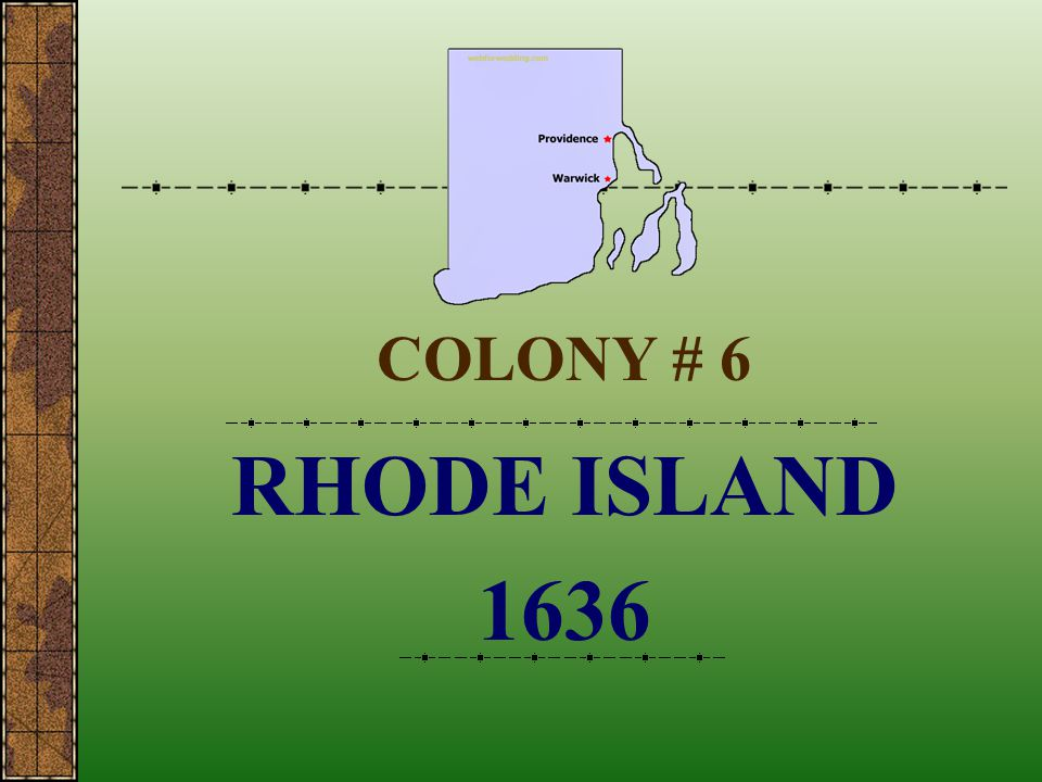 COLONY # 6 RHODE ISLAND 1636