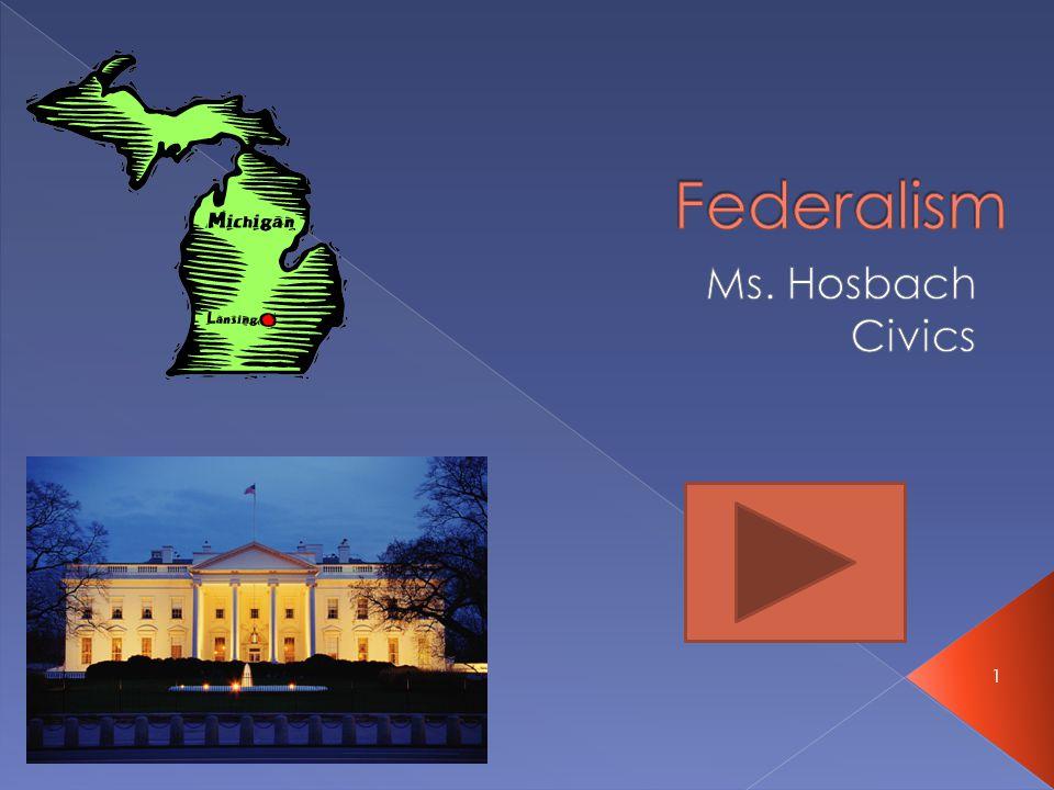 Federalism Ms. Hosbach Civics