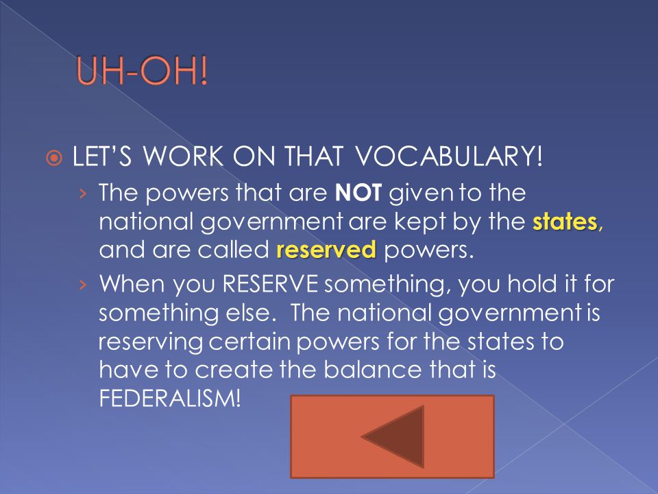 UH-OH! LET'S WORK ON THAT VOCABULARY!