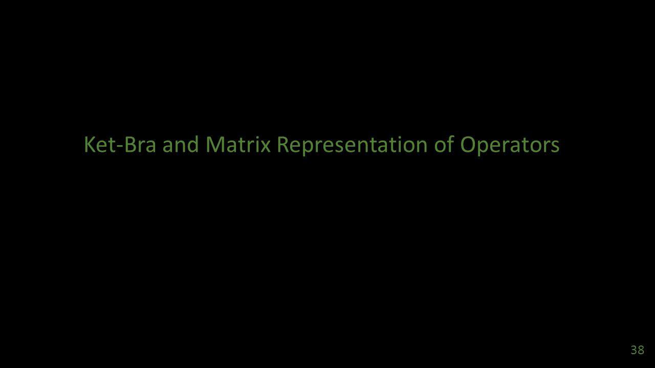 Ket-Bra and Matrix Representation of Operators