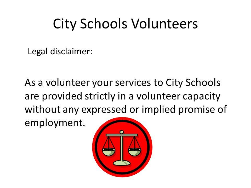 City Schools Volunteers