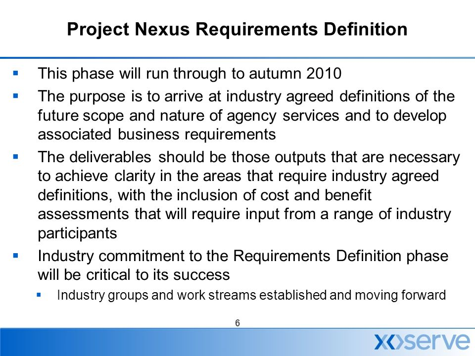 Project Nexus Requirements Definition