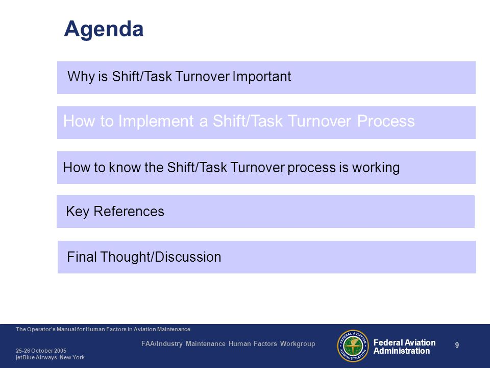 Shift /Task Turnover - How to implement
