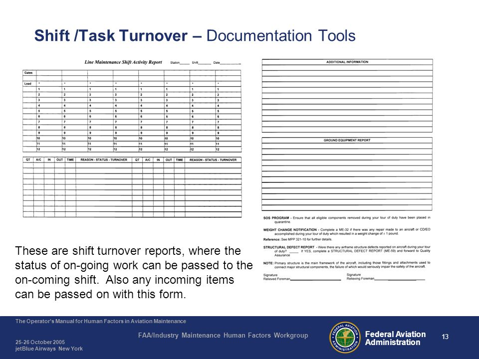 Agenda Why is Shift/Task Turnover Important - ppt video online ...