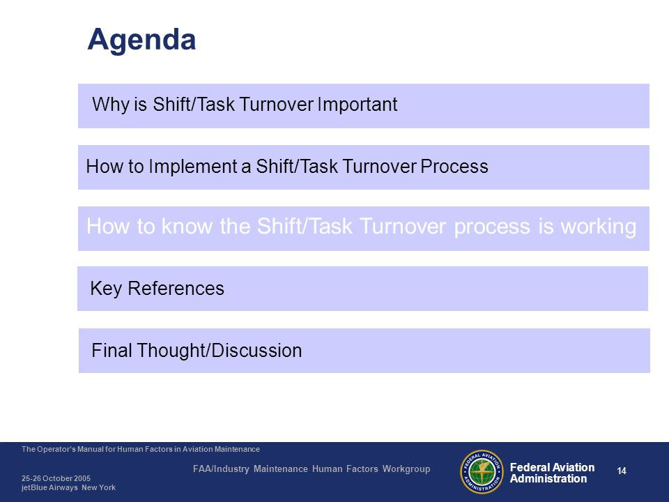 Shift/Task Turnover - How to know it is working