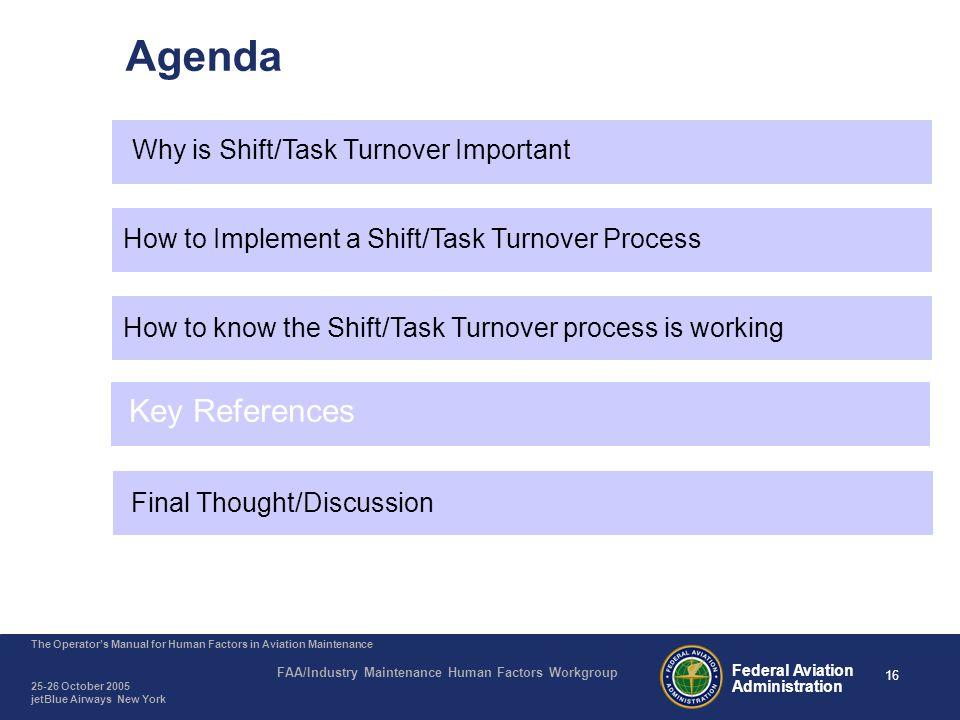 Shift/Task Turnover - Key References