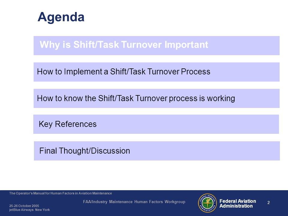Shift/Task Turnover – Why is it Important
