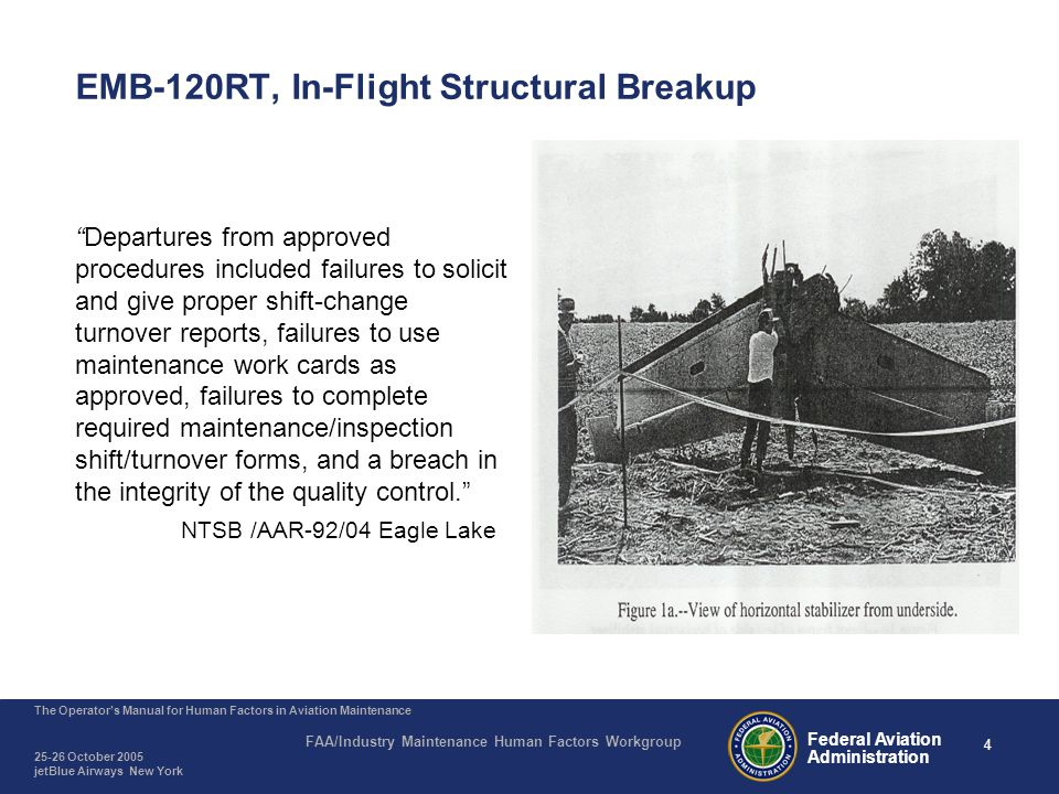 EMB-120RT, In-Flight Structural Breakup