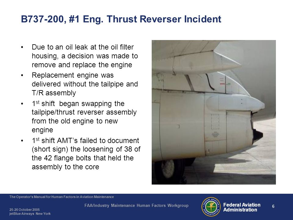 B737-200, On-Landing #1 Eng. Tailpipe/Thrust Reverser Departed the Aircraft