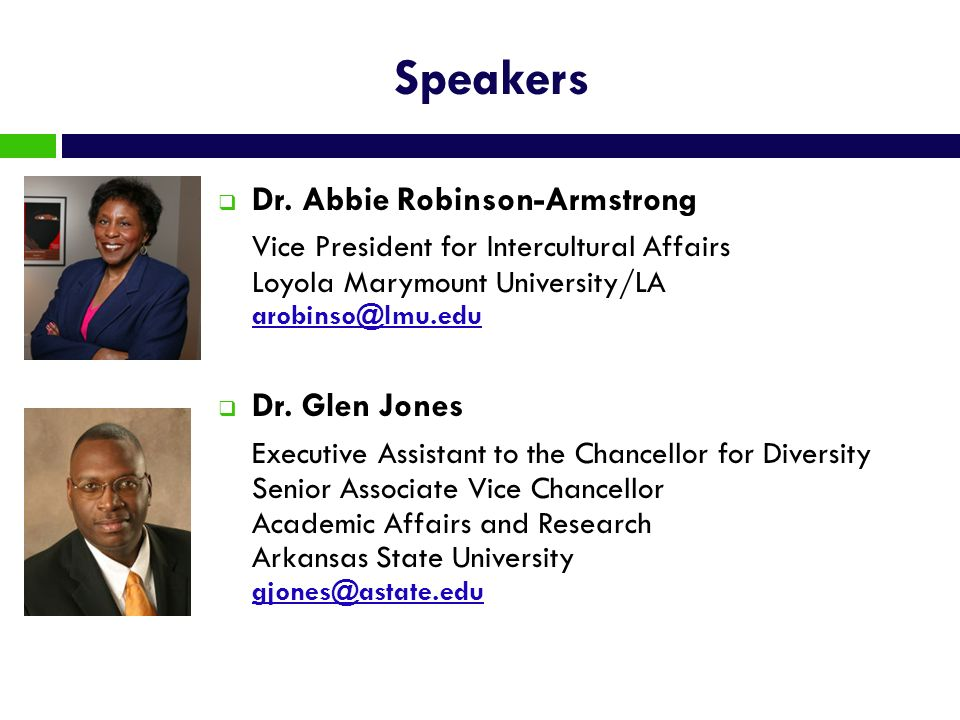 Speakers Dr. Abbie Robinson-Armstrong