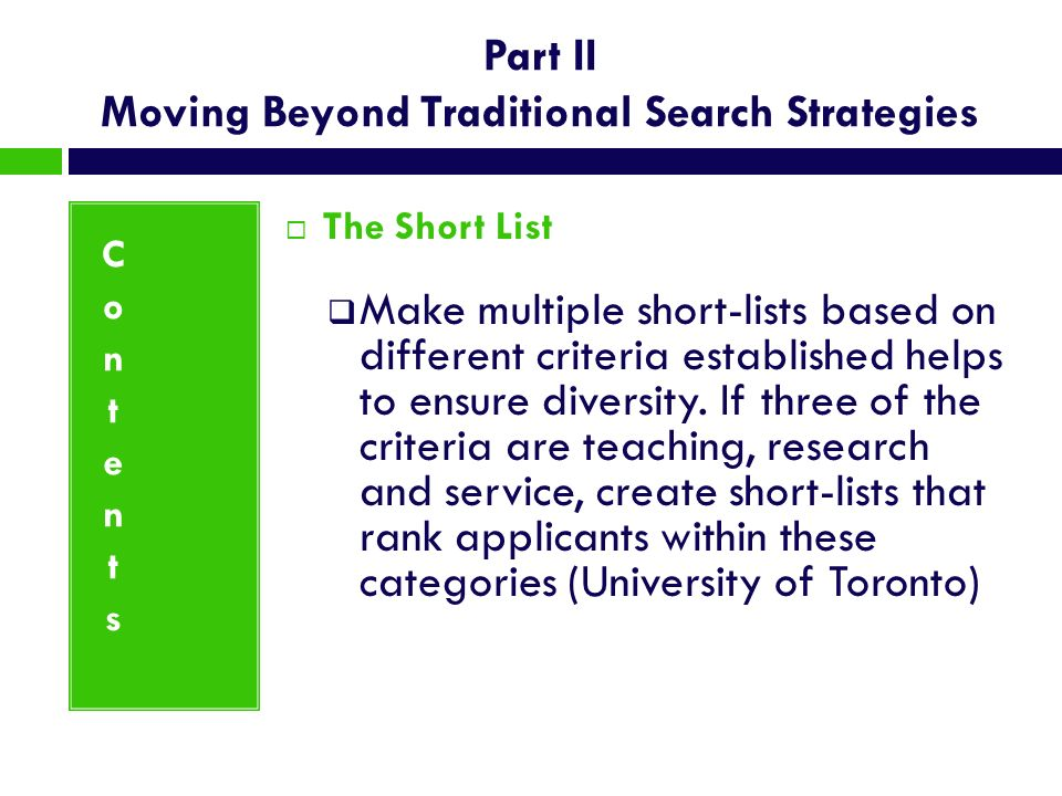 Part II Moving Beyond Traditional Search Strategies