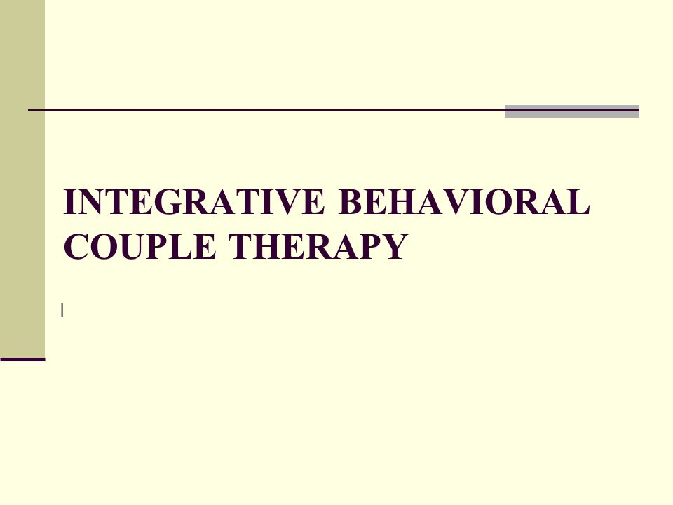 Integrative Behavioral Couple Therapy