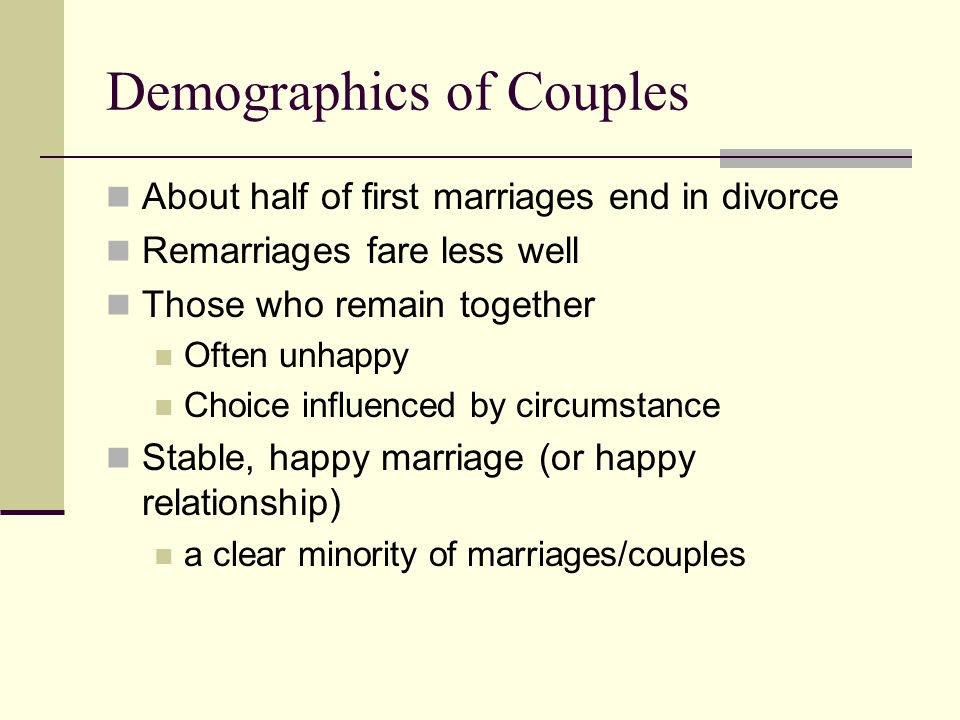 Demographics of Couples