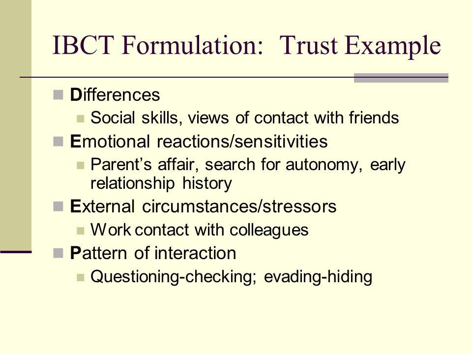 IBCT Formulation: Trust Example