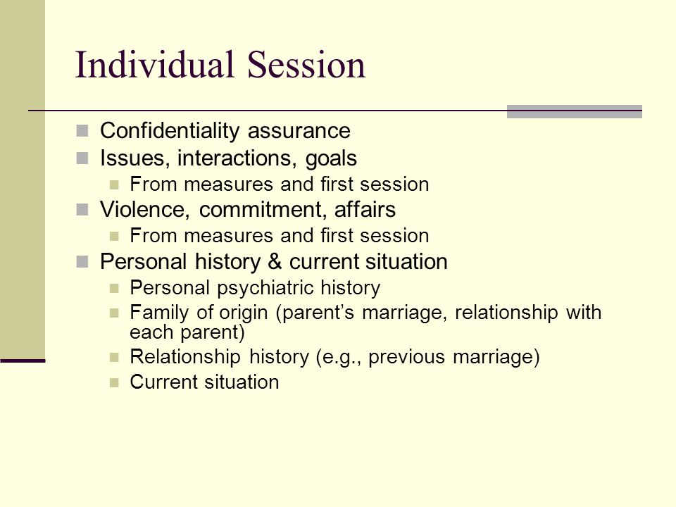 Individual Session Confidentiality assurance