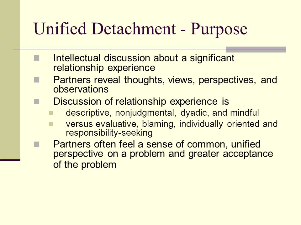 Unified Detachment - Purpose