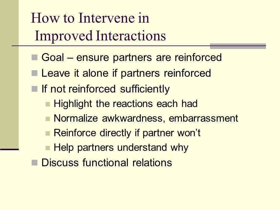 How to Intervene in Improved Interactions