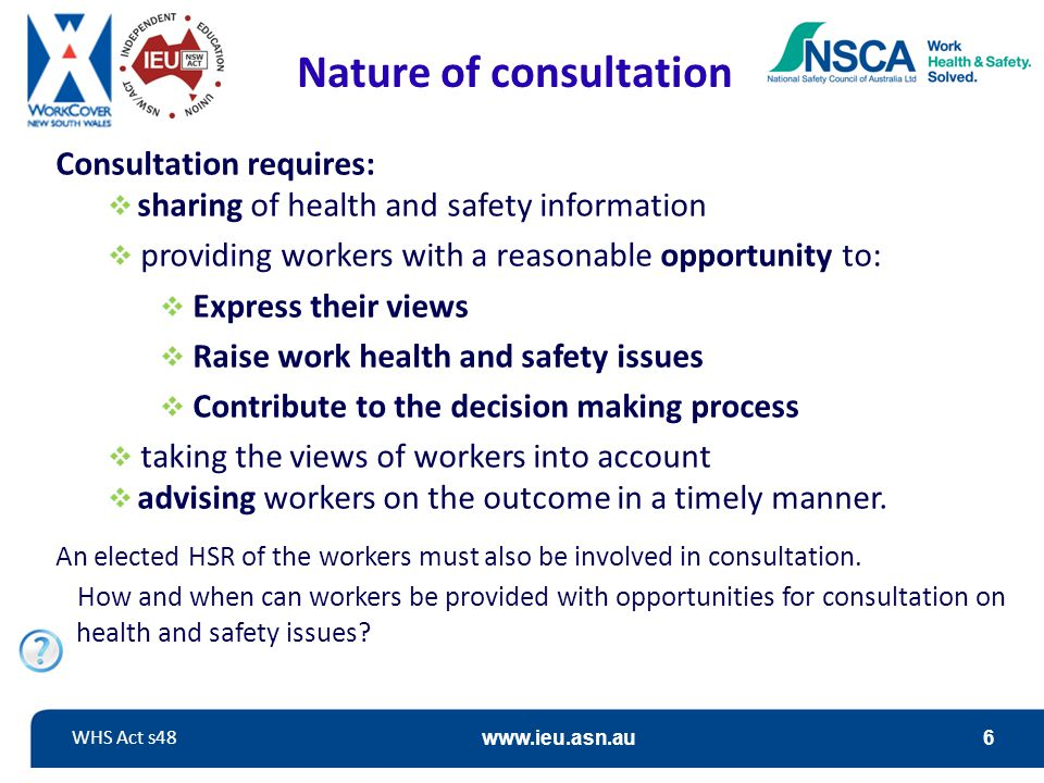 Nature of consultation