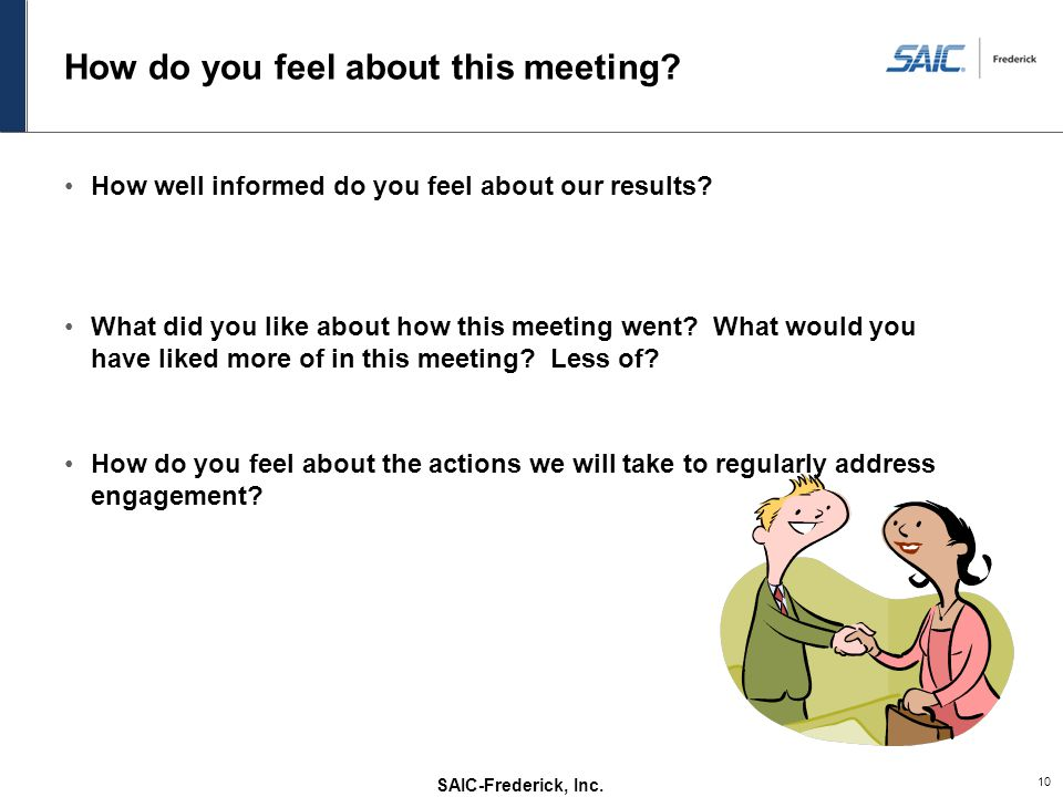 How do you feel about this meeting