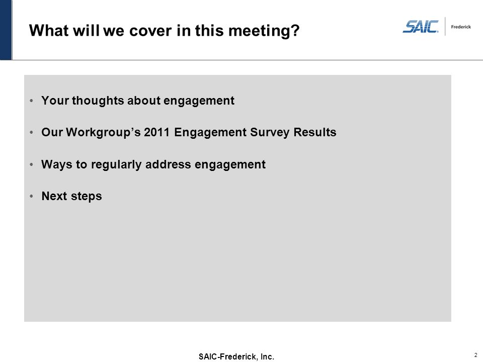What will we cover in this meeting