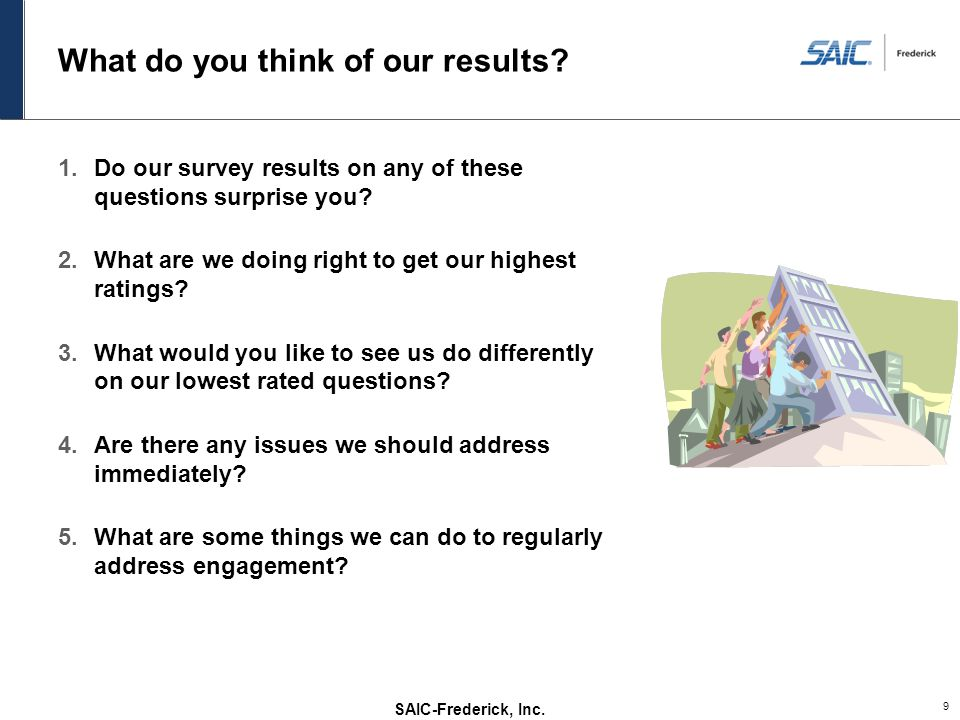 What do you think of our results
