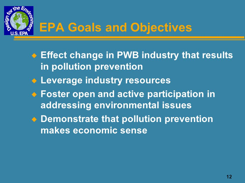 EPA Goals and Objectives