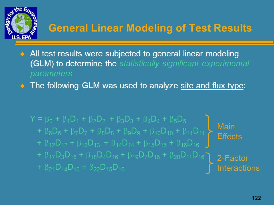 General Linear Modeling of Test Results