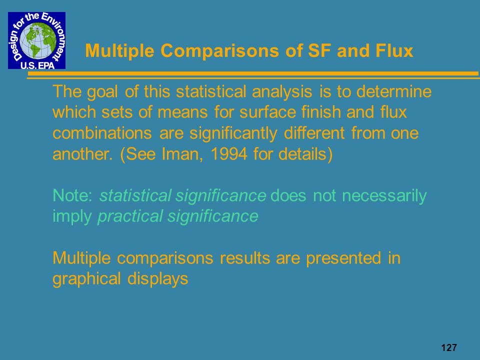 Multiple Comparisons of SF and Flux