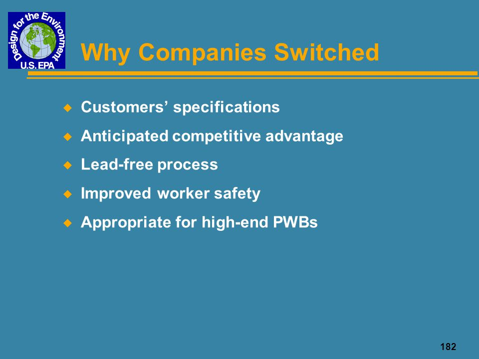 Why Companies Switched