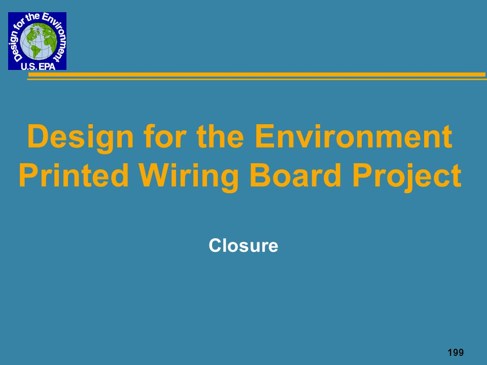 Design for the Environment Printed Wiring Board Project