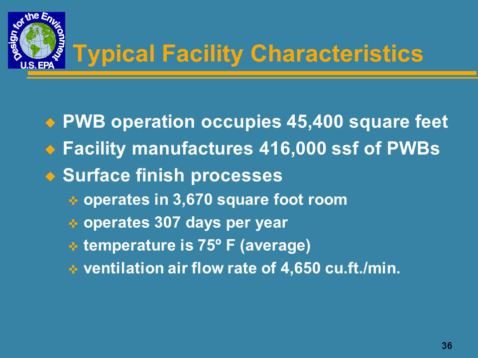 Typical Facility Characteristics
