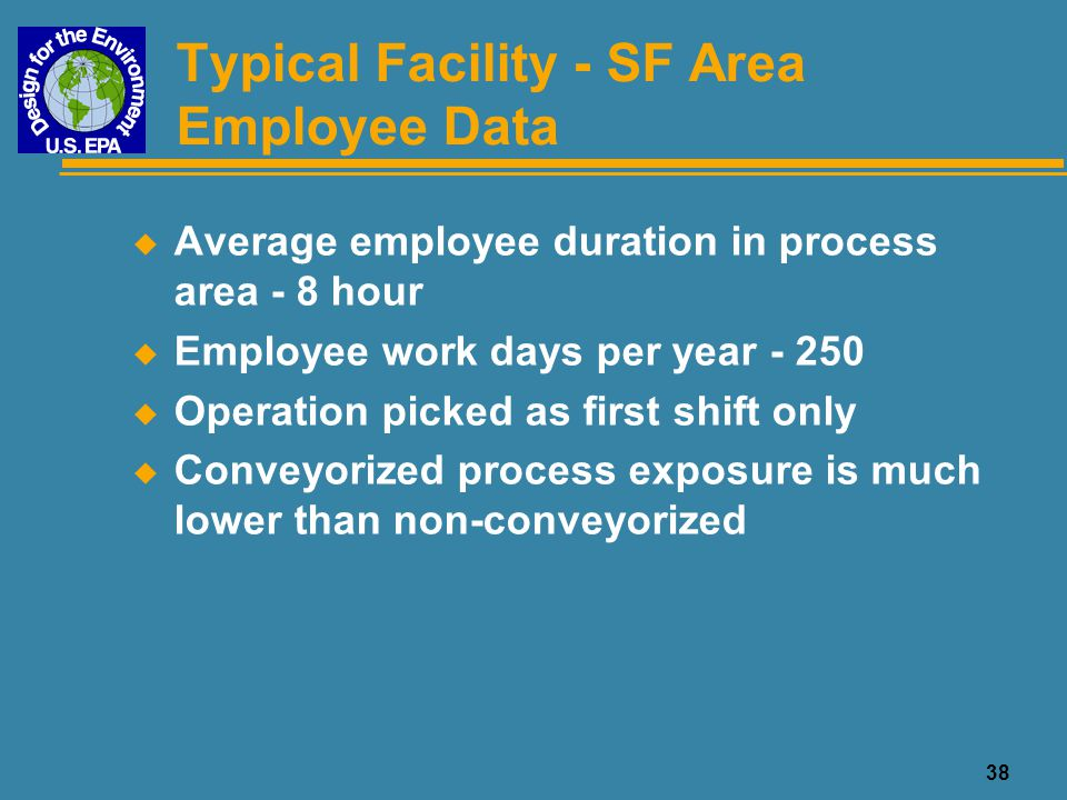Typical Facility - SF Area Employee Data