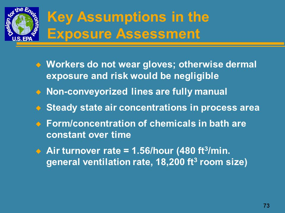 Key Assumptions in the Exposure Assessment
