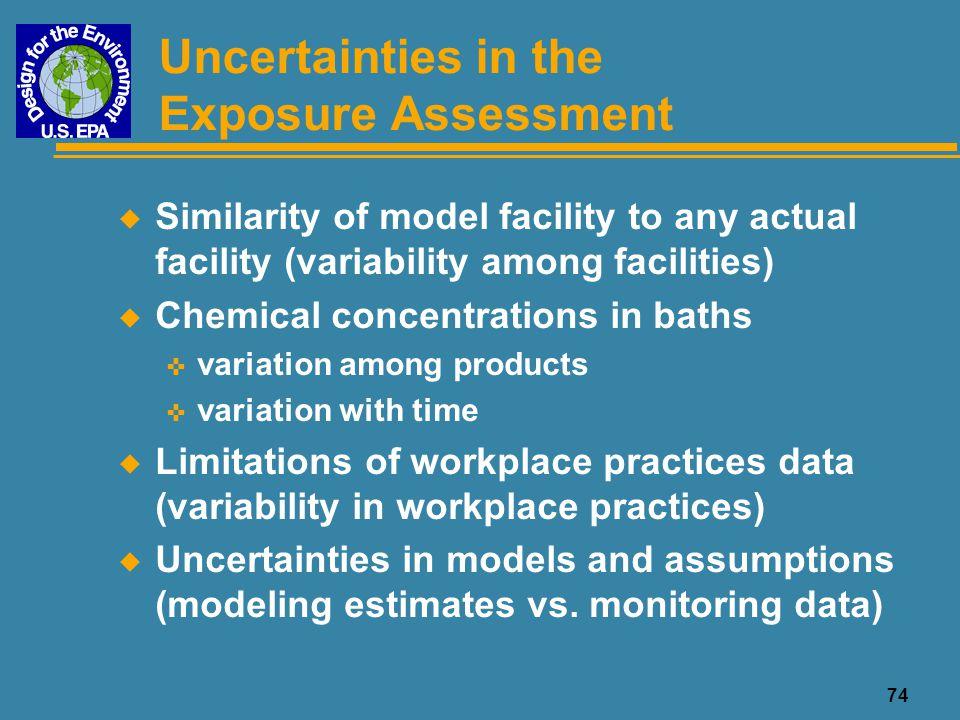Uncertainties in the Exposure Assessment