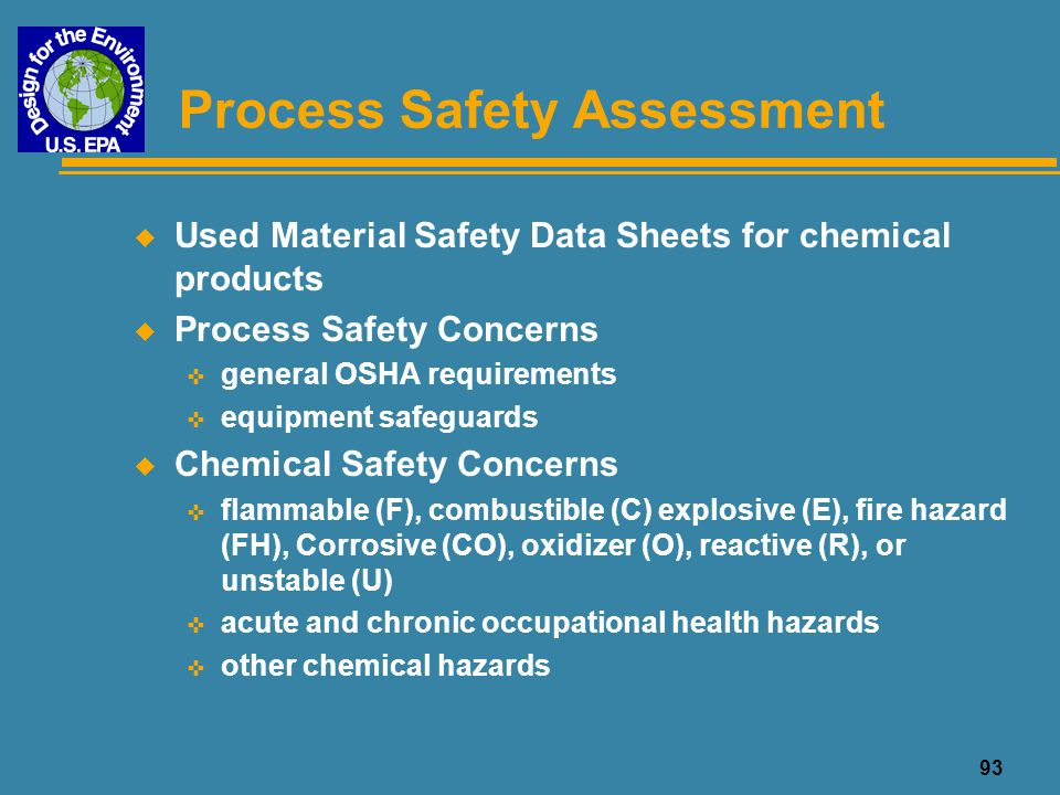 Process Safety Assessment