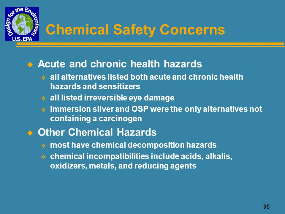 Chemical Safety Concerns