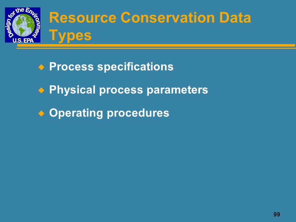 Resource Conservation Data Types
