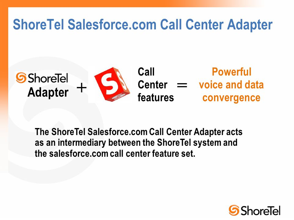 ShoreTel Salesforce.com Call Center Adapter