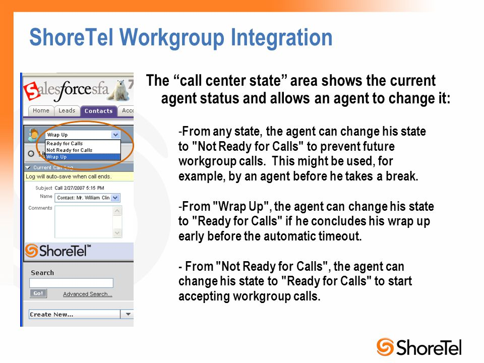 ShoreTel Workgroup Integration