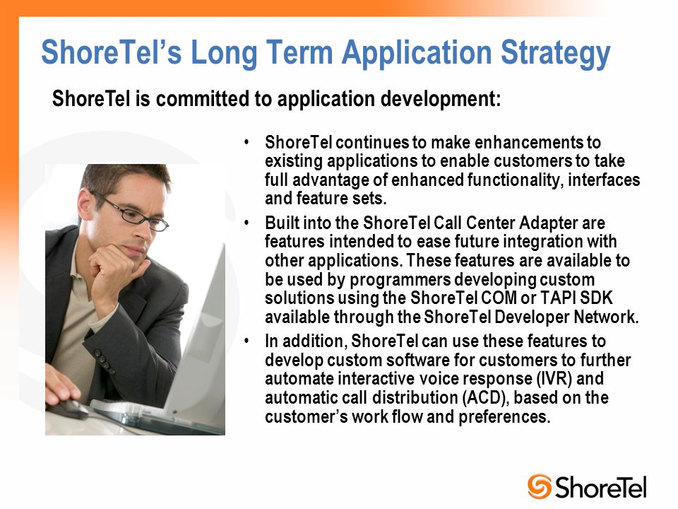 ShoreTel's Long Term Application Strategy