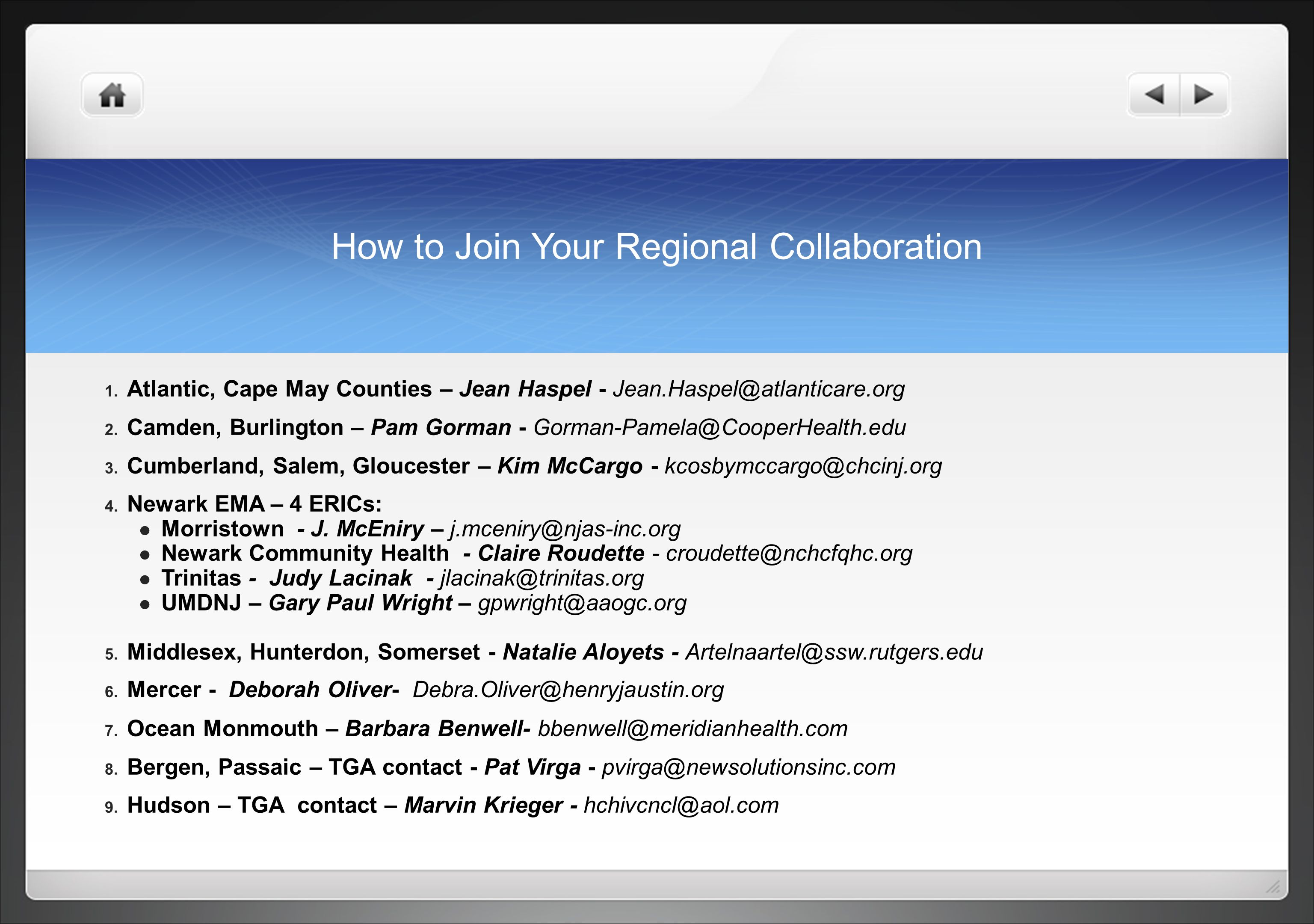 How to Join Your Regional Collaboration