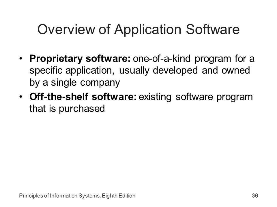 Overview of Application Software